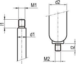 Priključek navoj batnica cilinder