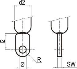 Priključek uho cilinder